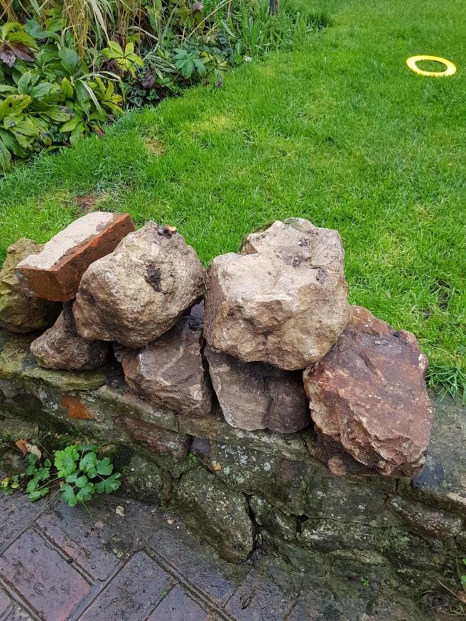 Inver Cottage stones dug from garden