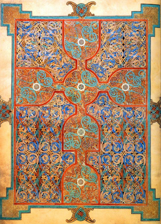 Lindisfarne gospels carpet page