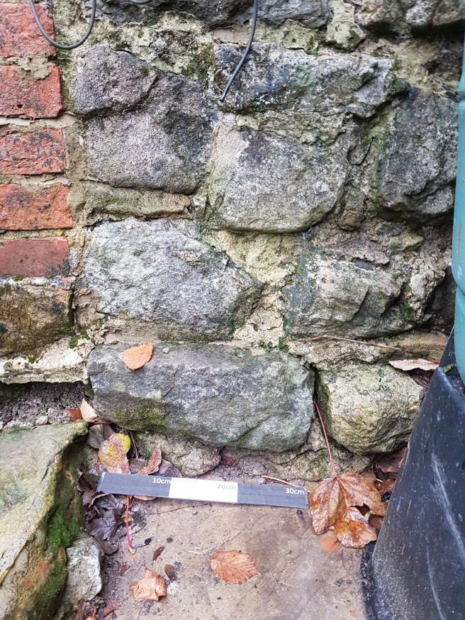 Whisper Cottage SW boundary wall 2