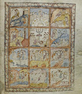 St Augustine Gospels Folio125r Passion Scenes