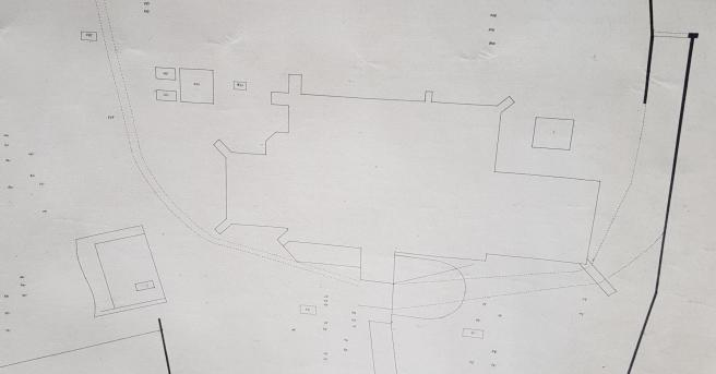 Extract from plan of churchyard 1915 (2)