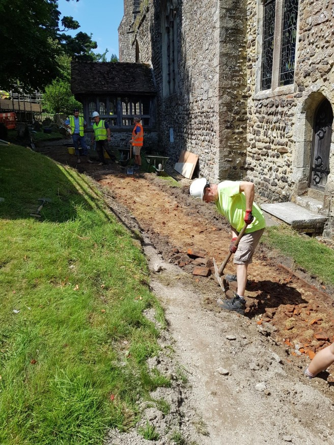 16 Jul clearing brick path