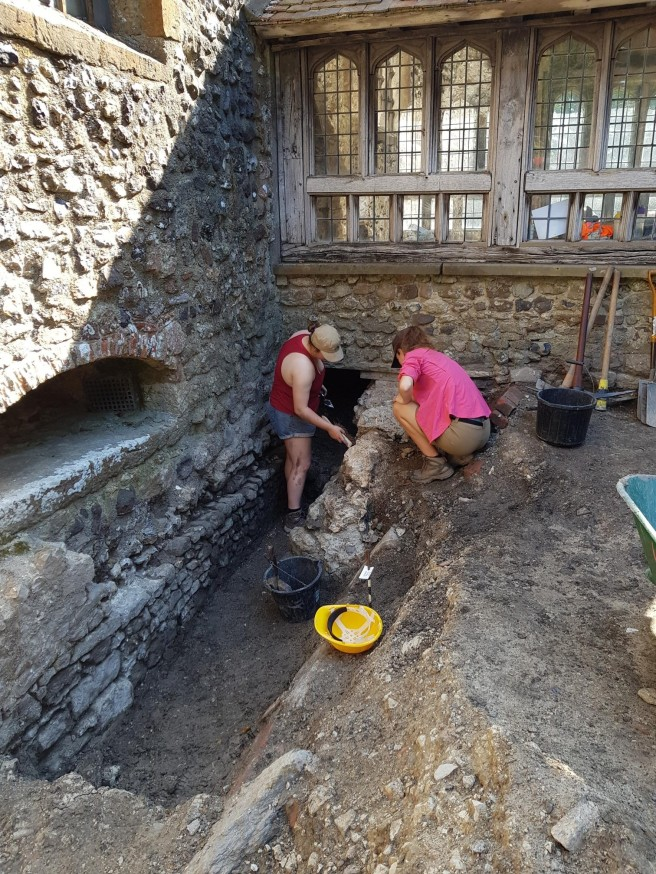 23 Jul excavating west of porch
