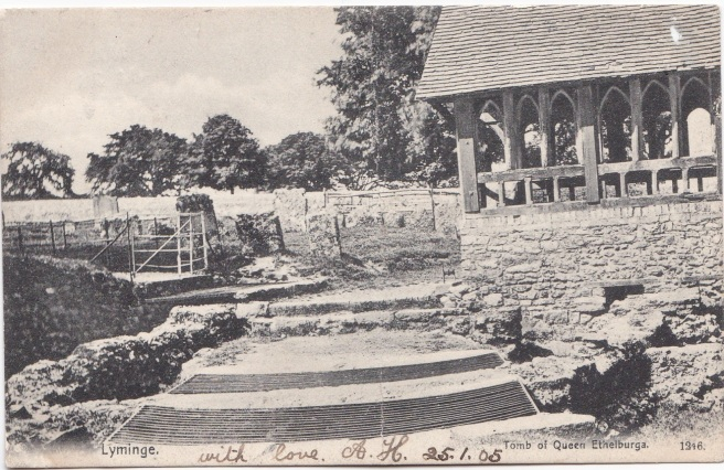 Anglo-Saxon church at Lyminge before Jan 1905