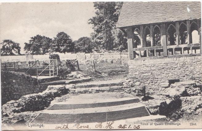Anglo-Saxon church at Lyminge before Jan 1905