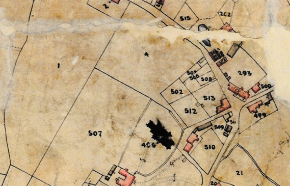 Extract from Tithe Map of Lyminge Parish High Street