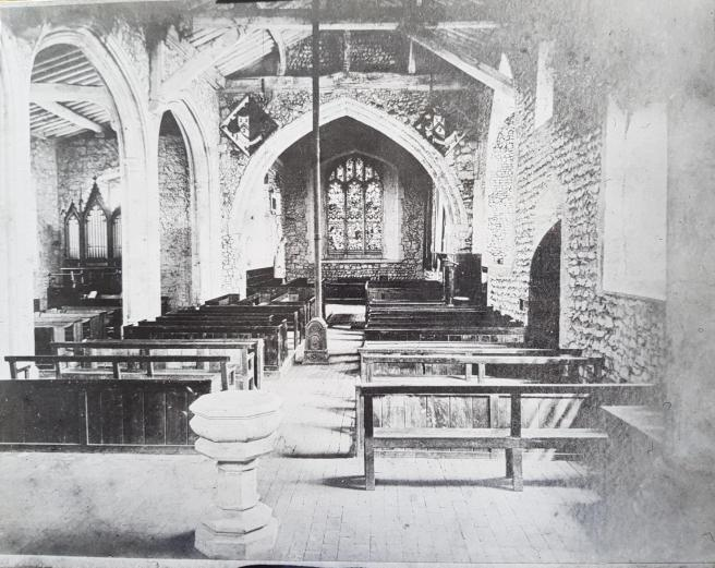 Lyminge church c1870