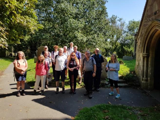 29 Aug pilgrims at St Martins