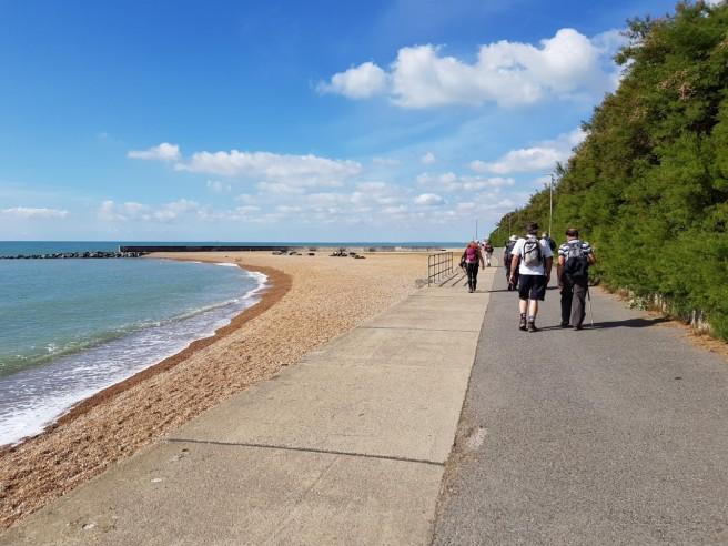 29 Aug pilgrims on seashore