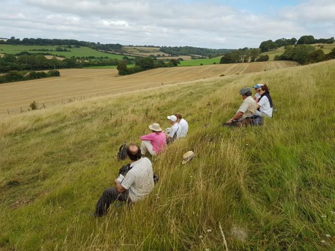 30 Aug pilgrims in the Elham Valley