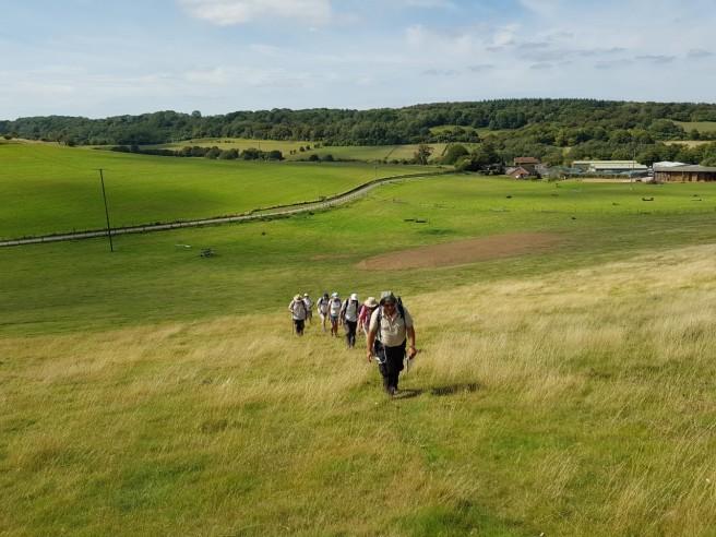 30 Aug pilgrims near Vineyard