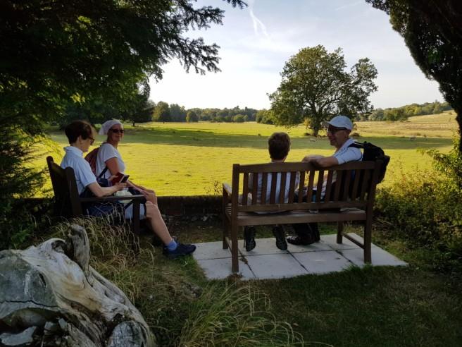 30 August pilgrims at Bishopsbourne