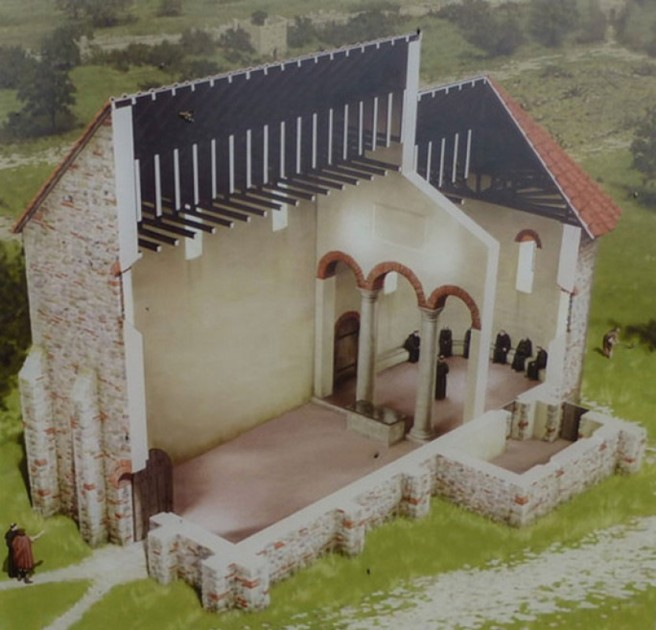St Mary Reculver reconstruction