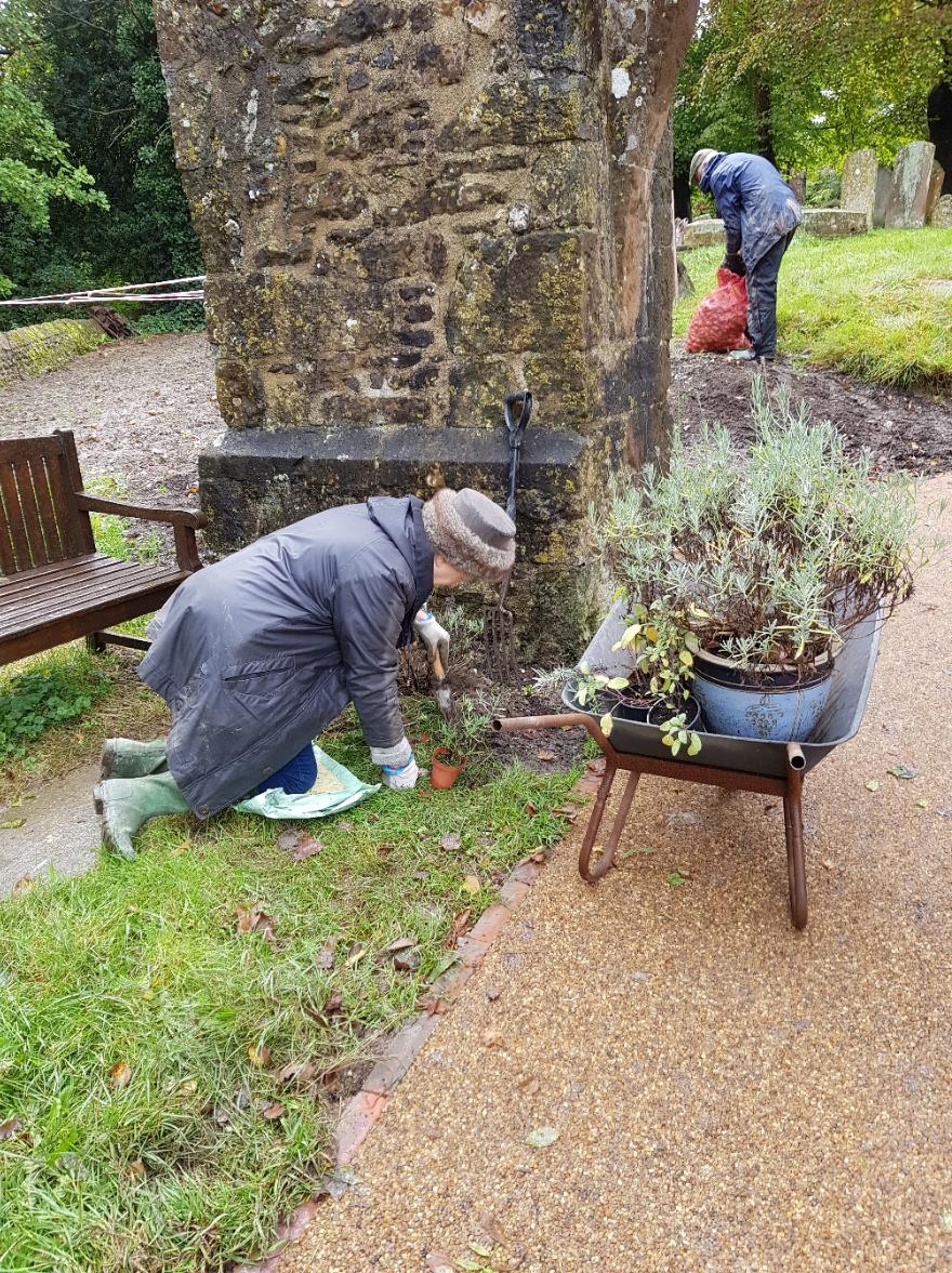 Churchyard sensory garden